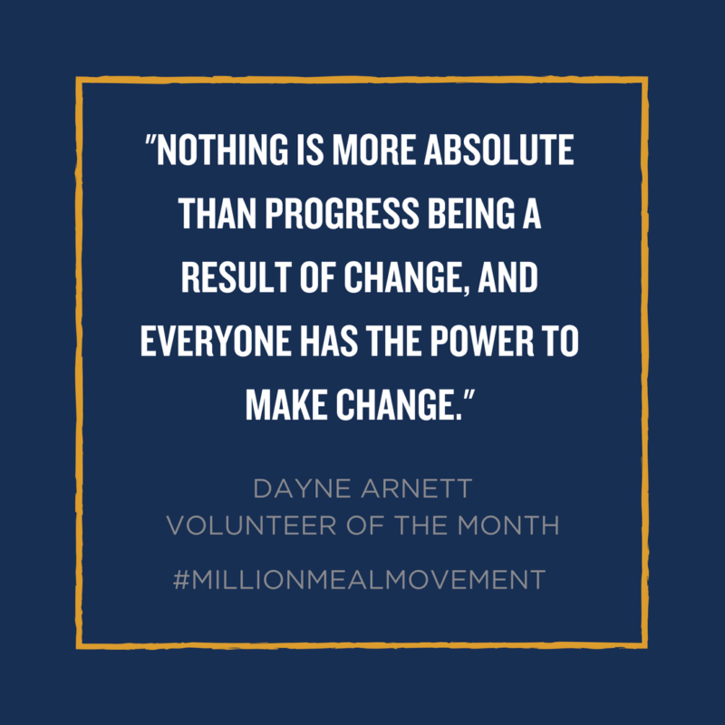 Million Meal Movement Volunteering Quote