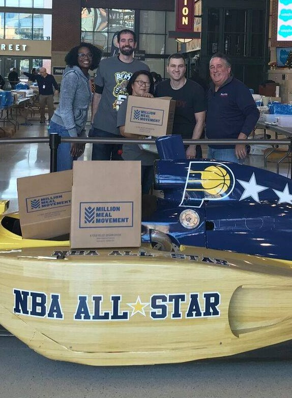 Million Meal Movement Indiana Pacers Charity Event
