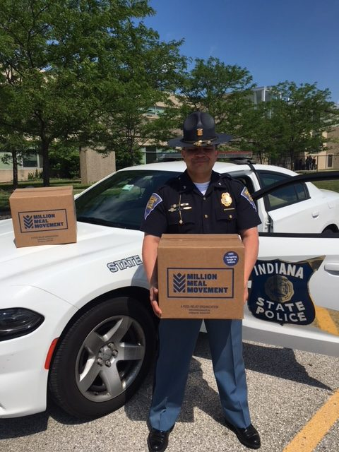Million Meal Movement partners with Indiana State Police Troopers
